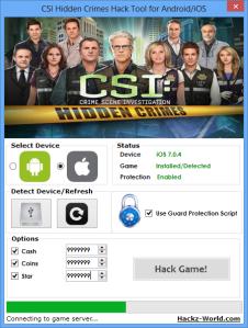 CSI Hidden Crimes Hack